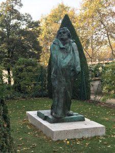 Balzac, Rodin, bronce, París, jardín