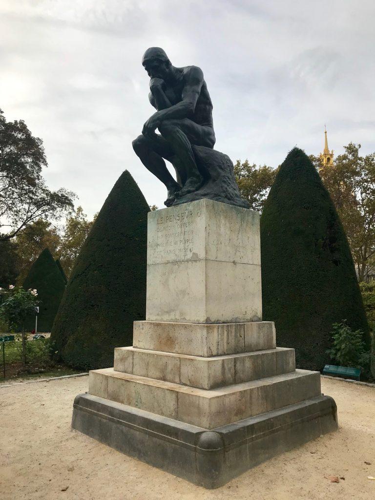 El Pensador, bronce, jardin, paris, Rodin