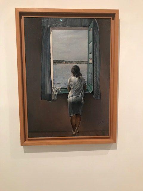 Muchacha en la ventana. Salvador Dalí en Museo Reina Sofía