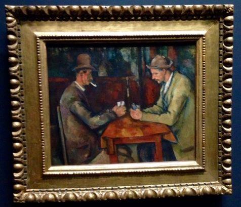 Los jugadores de Naipes en Museo D'Orsay Paris