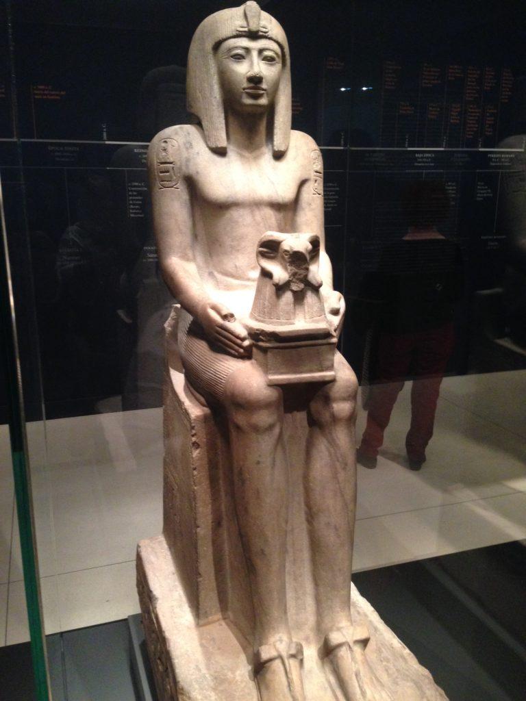 Faraon Seti II en exposición en Caixa Forum