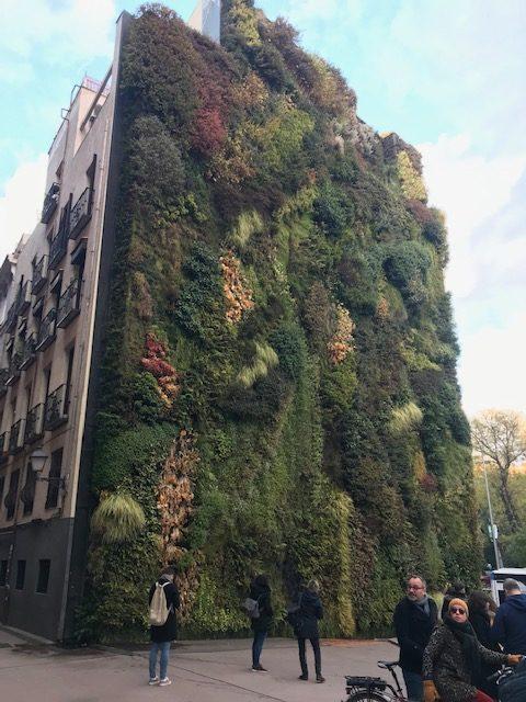 Jardín Vertical a la entrada de Caixa Forum Madrid