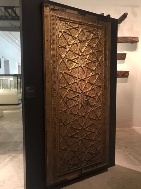 Puerta de Sagrario: madera dorada. Gótico-mudéjar. Finales del s. XV. Catedral de Jaén Museo Arqueológico MAN