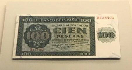 billete de 100 pesetas MAN