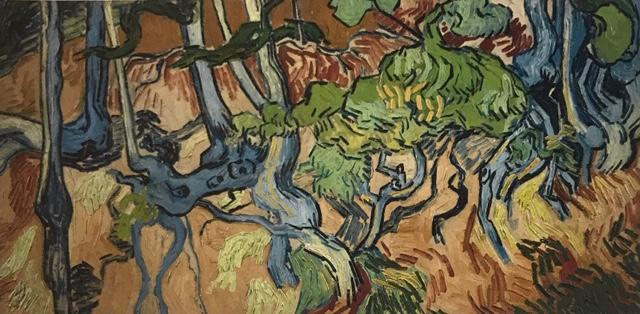 Raíces de árbol. Óleo sobre lienzo Se considera que sería realmente su última obra y la cual dejó inacabada.