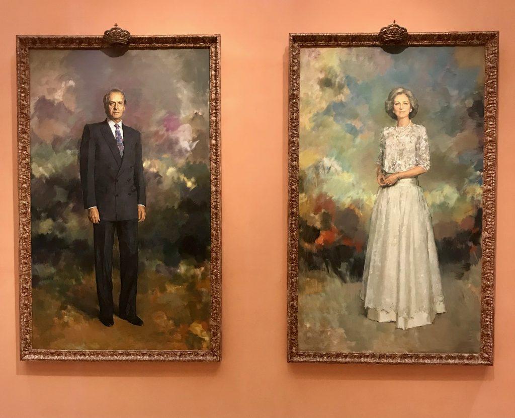 Reyes de España en Museo Thyssen-Bornemisza en Madrid