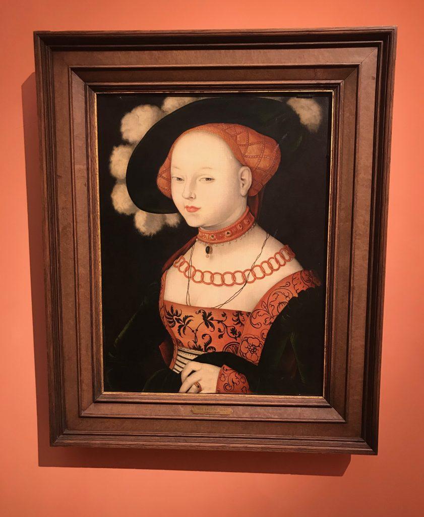 Hans Baldung Grien Retrato de una dama 1530 Museo Thyssen-Bornemisza en Madrid