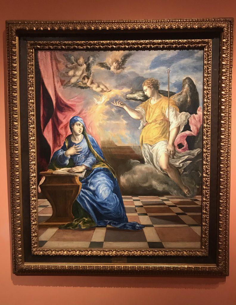 El Greco La Anunciación 1576.Museo Thyssen-Bornemisza en Madrid