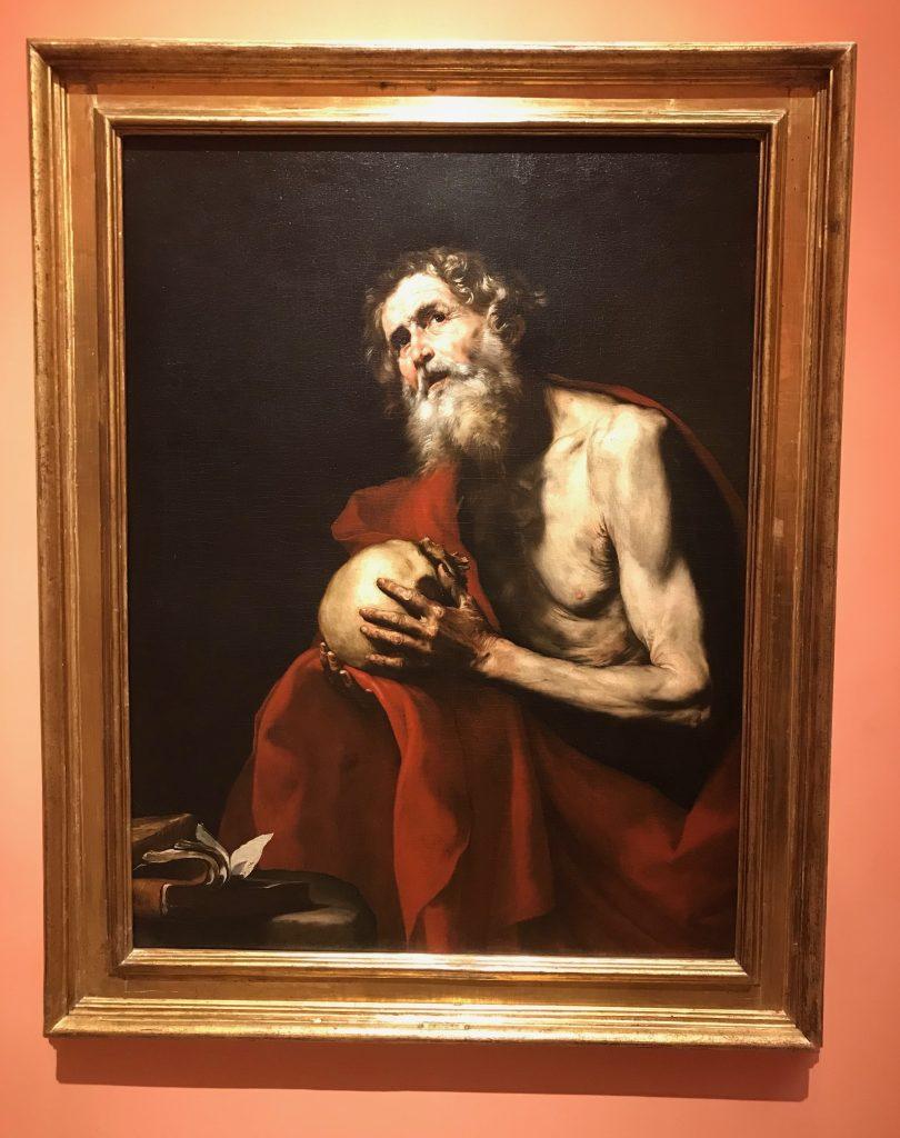 San Jerónimo penitente de Jose de Ribera Museo Thyssen-Bornemisza en Madrid