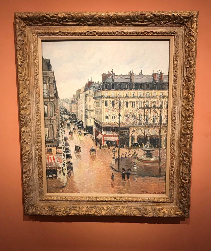 Camille Pissarro: La calle Saint Honore despues del mediodia, efecto de lluvia
