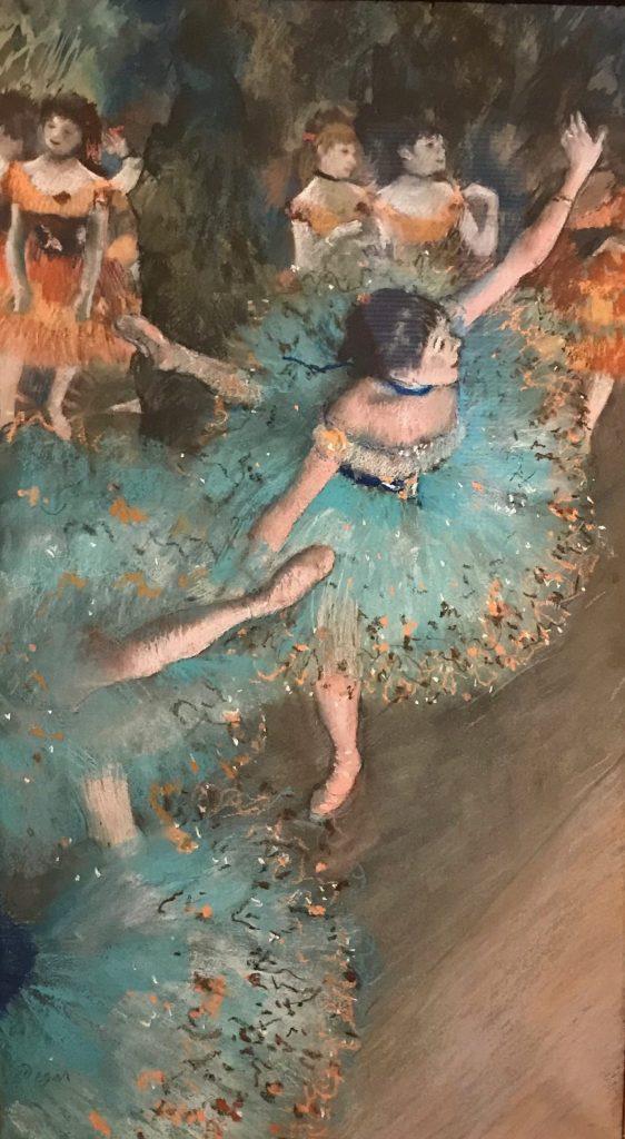 Bailarina (verde) Basculando. Edgar Degas