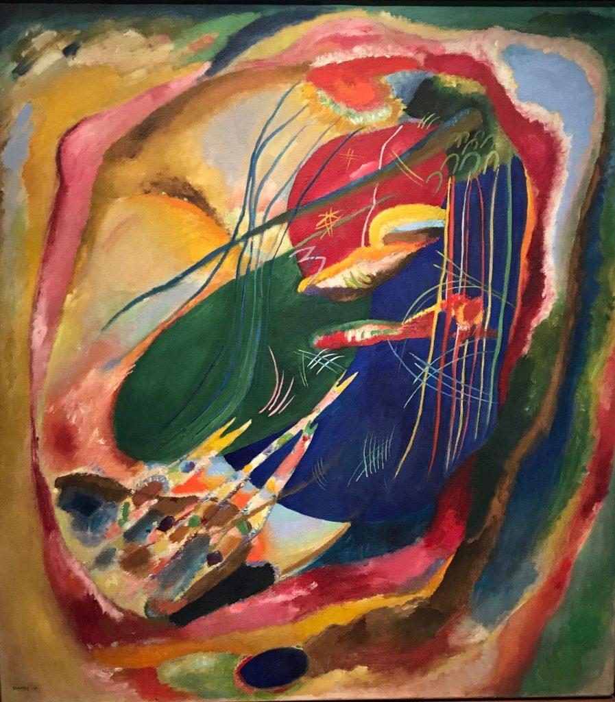Pintura con tres manchas nº 196. Kandinsky