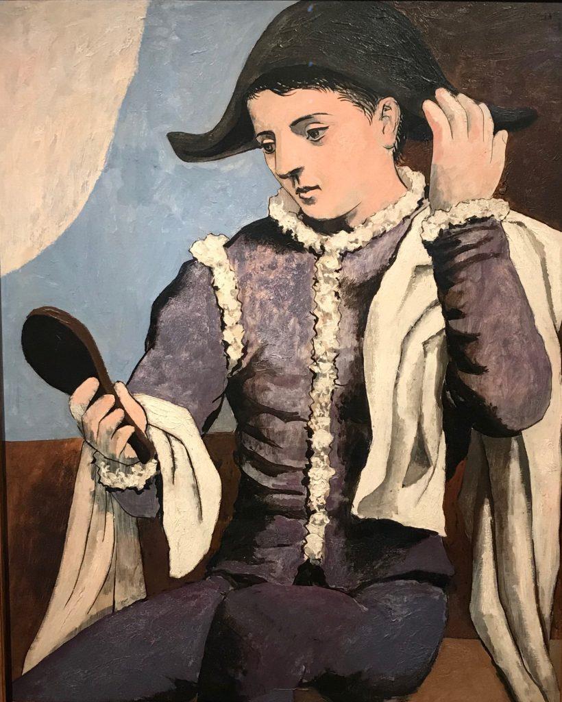 El arlequín con espejo. Picasso