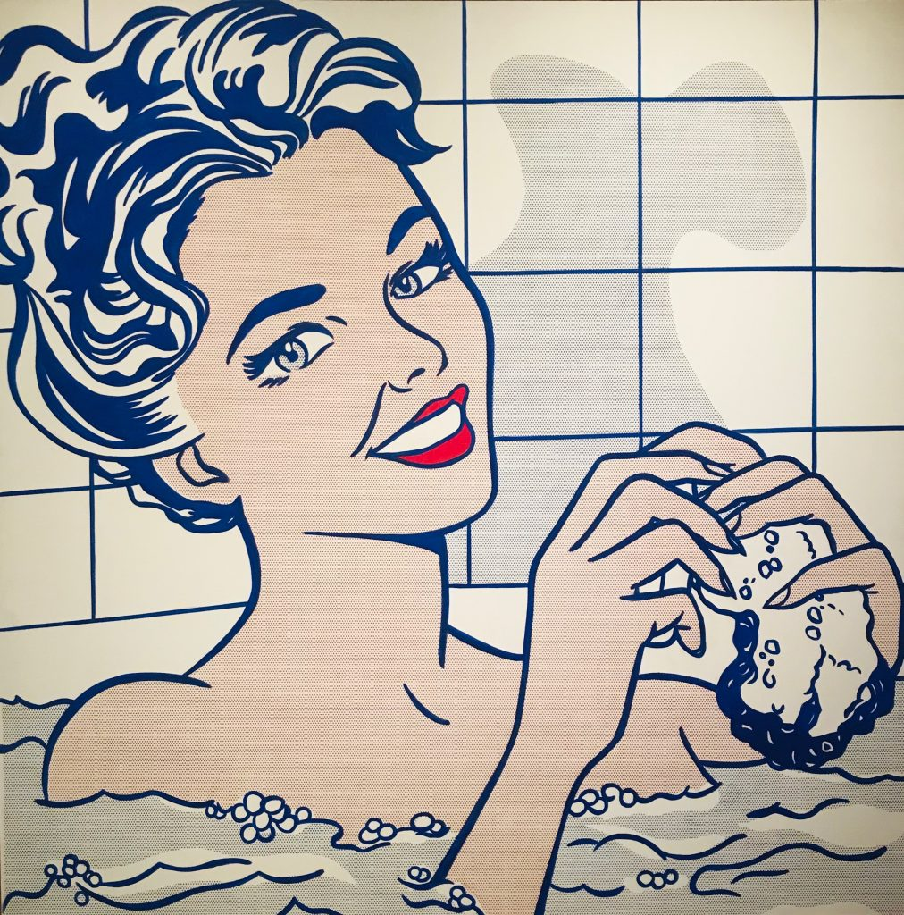 Mujer en el baño. Roy Lichtenstein