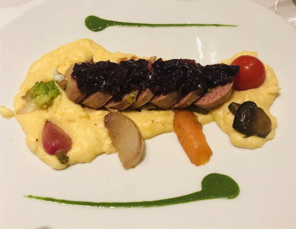 Plato en Restaurante Aux Trois Maries en Lyon