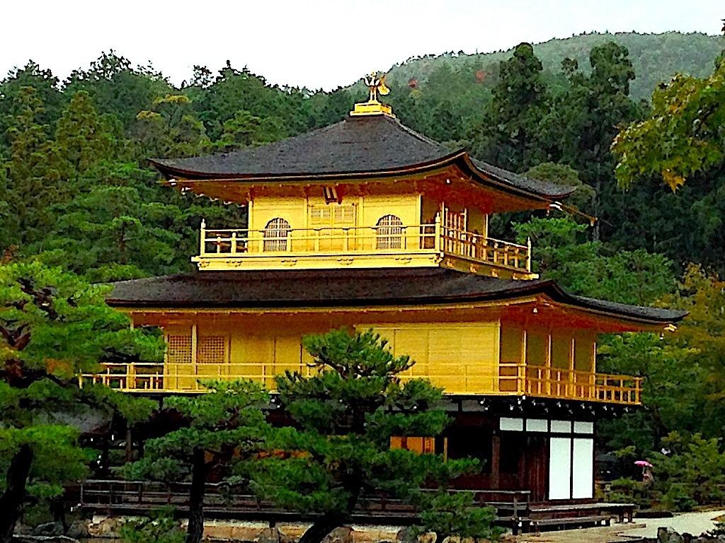 El Templo Kinkaku-ji (El Pabellón de Oro) Japón