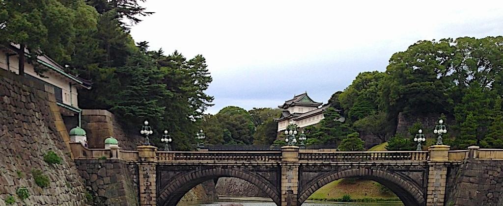 Palacio Imperial. Vista desde el Puente Nijubashi en Tokio