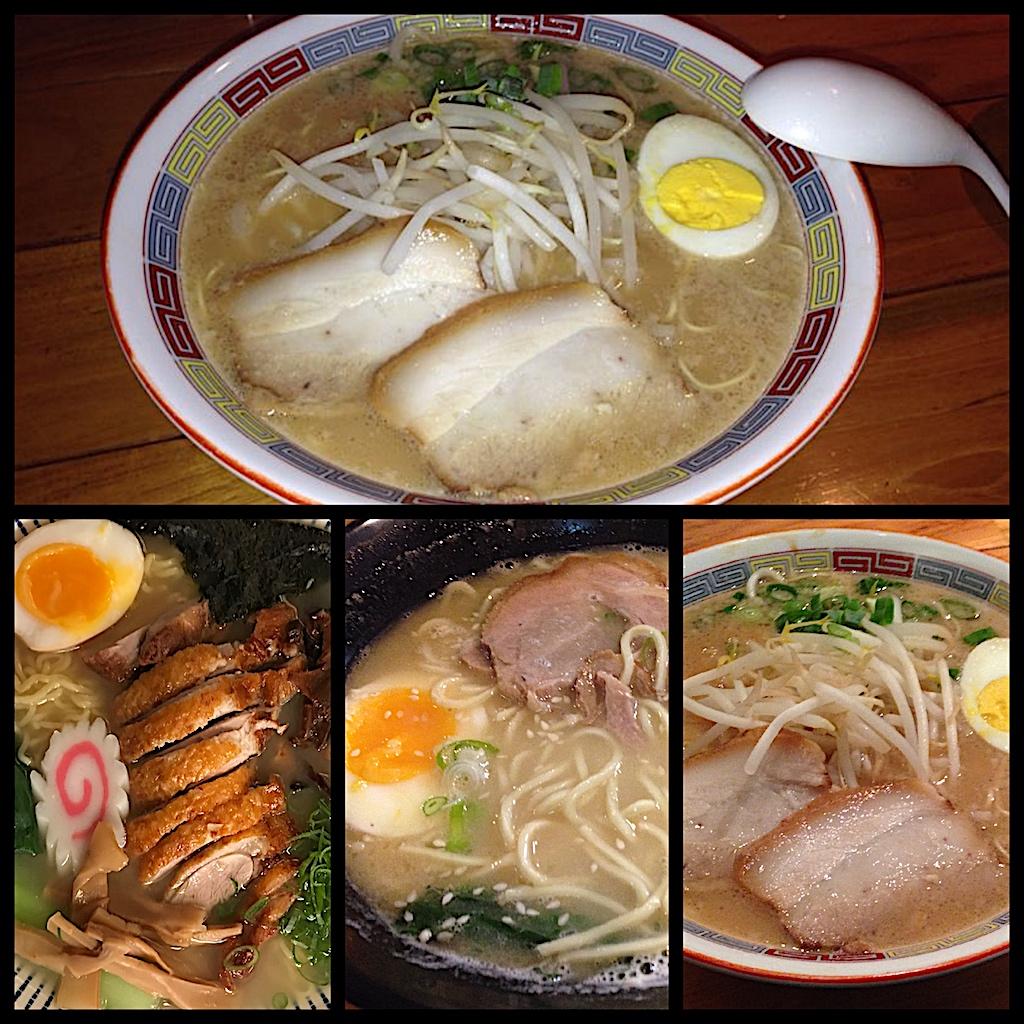 Collage tipos de Ramen, experiencias gastronómicas en Japón